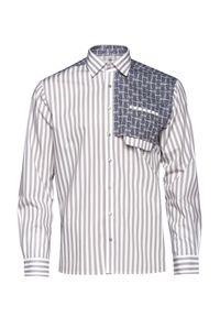 Beżowa koszula VEVA na co dzień, długa