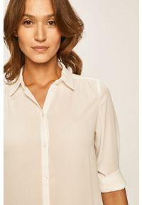 Biała koszula Vila na co dzień, długa