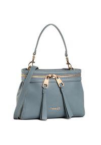 Niebieska torebka klasyczna TwinSet na ramię