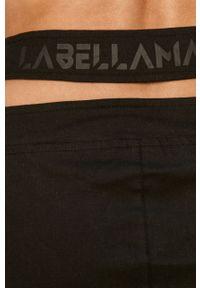 Czarna spódnica LABELLAMAFIA casualowa, z nadrukiem, na co dzień, z podwyższonym stanem