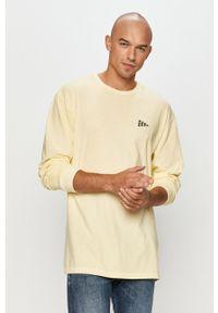 Żółta koszulka z długim rękawem Vans casualowa, z nadrukiem, na co dzień
