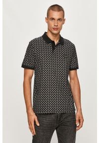 Czarna koszulka polo Calvin Klein polo, krótka