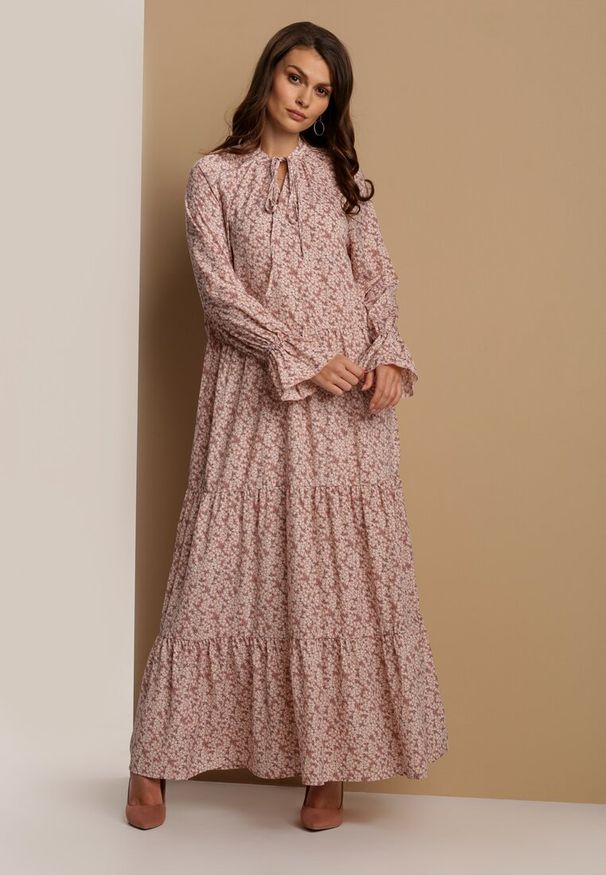 Różowa długa sukienka Renee