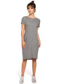 Szara sukienka dresowa MOE mini