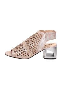Różowe sandały Jezzi klasyczne, na obcasie, na średnim obcasie