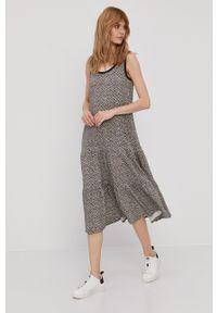 GAP - Sukienka. Materiał: dzianina. Wzór: gładki. Typ sukienki: rozkloszowane