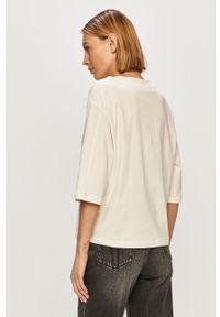 Biała bluzka Trussardi Jeans klasyczna, na co dzień
