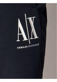Niebieskie spodenki sportowe Armani Exchange