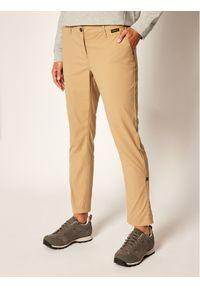 Beżowe spodnie sportowe Jack Wolfskin outdoorowe