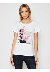 Liu Jo Sport T-Shirt TA1211 J5972 Biały Regular Fit. Kolor: biały. Styl: sportowy