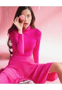 LA MANIA - Plisowana spódnica Lang w kolorze różowym. Kolor: wielokolorowy, różowy, fioletowy. Materiał: materiał #7