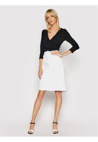 Biała spódnica jeansowa Lauren Ralph Lauren