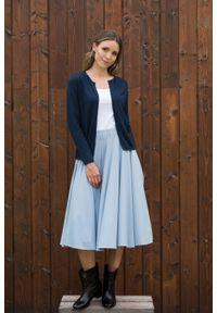 Niebieski sweter VEVA długi, klasyczny