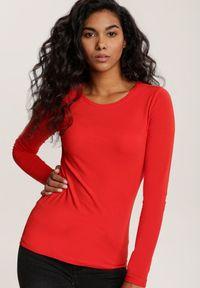 Czerwona bluzka z długim rękawem Renee