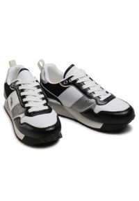 U.S. Polo Assn - Sneakersy U.S. POLO ASSN. - Frida113 FRIDA4113S1/YM1 Blk/Whi. Okazja: na co dzień, na spacer. Kolor: czarny. Materiał: materiał. Szerokość cholewki: normalna. Sezon: lato. Styl: casual