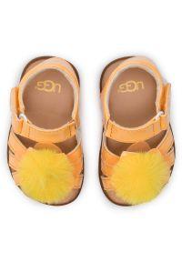 Żółte sandały Ugg