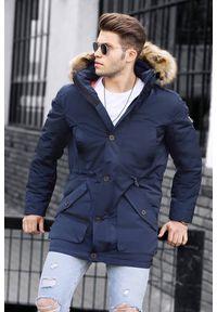 Niebieski płaszcz IVET