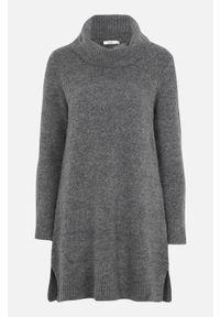 Cellbes Sweter z dzierganym ściegiem grafitowy melanż female szary 58/60. Typ kołnierza: golf. Kolor: szary. Materiał: dziergany. Długość rękawa: długi rękaw. Długość: długie. Wzór: melanż