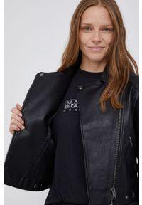 Pepe Jeans - Ramoneska Olga. Okazja: na co dzień. Kolor: czarny. Styl: klasyczny, casual