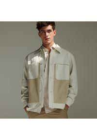 Reserved - Gładkie szorty chino - Brązowy. Kolor: brązowy. Wzór: gładki