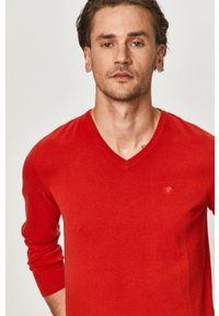Czerwony sweter Tom Tailor z długim rękawem, długi
