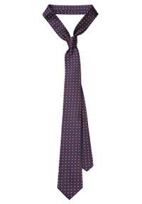 Niebieski krawat Lancerto w kwiaty, klasyczny