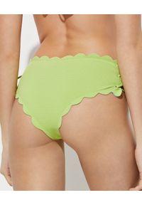 MARYSIA SWIM - Zielony dół od bikini Spring Tie. Stan: podwyższony. Kolor: zielony. Materiał: tkanina, materiał
