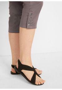 Spodnie ciążowe rybaczki bonprix szary. Kolekcja: moda ciążowa. Kolor: szary. Sezon: lato