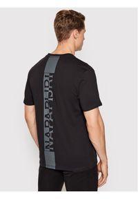 Napapijri T-Shirt S-Surf Ss NP0A4F7F Czarny Regular Fit. Kolor: czarny