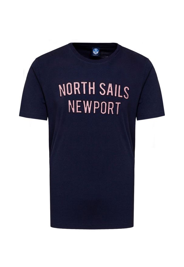 North Sails - T-shirt NORTH SAILS. Materiał: prążkowany, bawełna. Styl: vintage