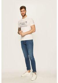 Biały t-shirt Polo Ralph Lauren z nadrukiem, na co dzień
