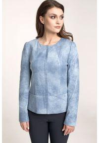 Niebieska kurtka Vito Vergelis elegancka, do pracy, na wiosnę