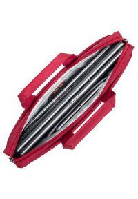 Czerwona torba na laptopa RIVACASE elegancka