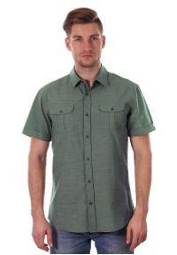 Zielona koszula casual Just Yuppi z krótkim rękawem, krótka, na co dzień