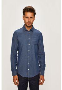 Niebieska koszula Blend z klasycznym kołnierzykiem, elegancka, długa #5