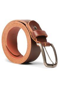 Jack & Jones - Pasek Męski JACK&JONES - Jackpaul Leather Belt 12111286 Brązowy. Kolor: brązowy. Materiał: skóra