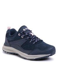 Niebieskie buty trekkingowe Hi-tec z cholewką, trekkingowe
