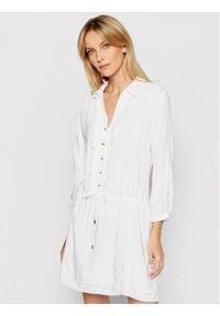 Biała sukienka Melissa Odabash koszulowa