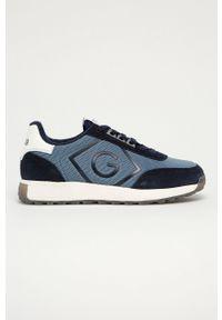 Niebieskie sneakersy GANT z okrągłym noskiem, z cholewką, na sznurówki