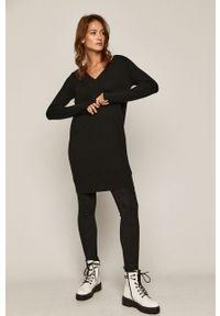 Czarny sweter medicine z długim rękawem, długi #5