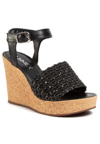 Czarne sandały Ann Mex na co dzień, casualowe