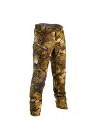 SOLOGNAC - Spodnie myśliwskie wodoodporne Warm 900 Camo Furtiv. Materiał: tkanina, skóra, polar, materiał