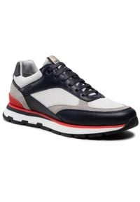 Sneakersy BOSS - Arigon 50452595 10235331 01 Open Blue 460. Okazja: na co dzień. Kolor: biały. Materiał: zamsz, materiał, skóra. Szerokość cholewki: normalna. Styl: casual, elegancki