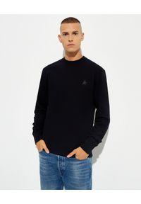 GOLDEN GOOSE - Czarna bluza Archibald Star. Kolor: czarny. Materiał: bawełna. Długość rękawa: długi rękaw. Długość: długie. Wzór: aplikacja. Styl: klasyczny