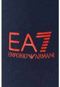 EA7 Emporio Armani - Legginsy. Kolor: niebieski. Wzór: nadruk