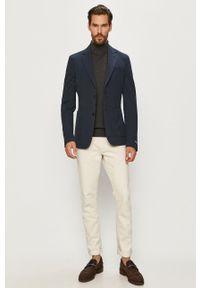Selected - Sweter. Typ kołnierza: golf. Kolor: szary. Materiał: materiał. Długość rękawa: długi rękaw. Długość: długie