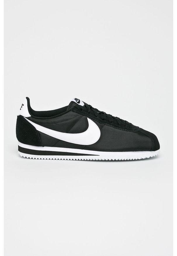 Czarne sneakersy Nike na sznurówki, Nike Cortez, z cholewką