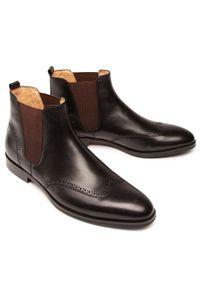 Czarne buty zimowe Digel eleganckie, z cholewką