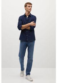 Niebieska koszula Mango Man z klasycznym kołnierzykiem, długa, klasyczna