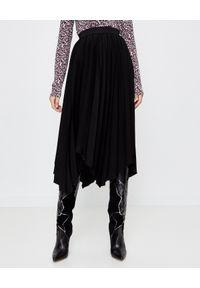 ISABEL MARANT - Asymetryczna plisowana spódnica Felixa. Kolor: czarny. Materiał: materiał